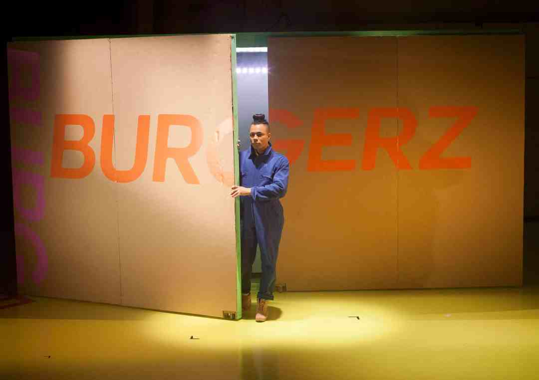 BURGERZ performance, Production Shot 1, photo by Holly Revell