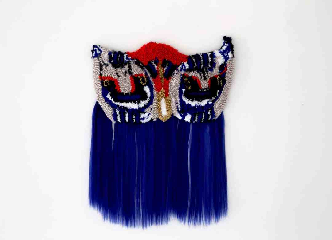 Anna Perach, Pafti (Belt buckles), 68x51cm, tufted yarn and artificial hair, 2018