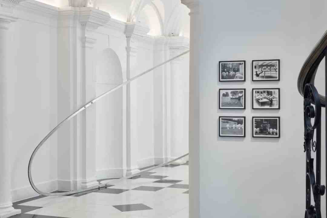 Exhibition view Land of Lads, Land of Lashes, lower corridor, photo Tom Carter, courtesy of Galerie Thaddaeus Ropac