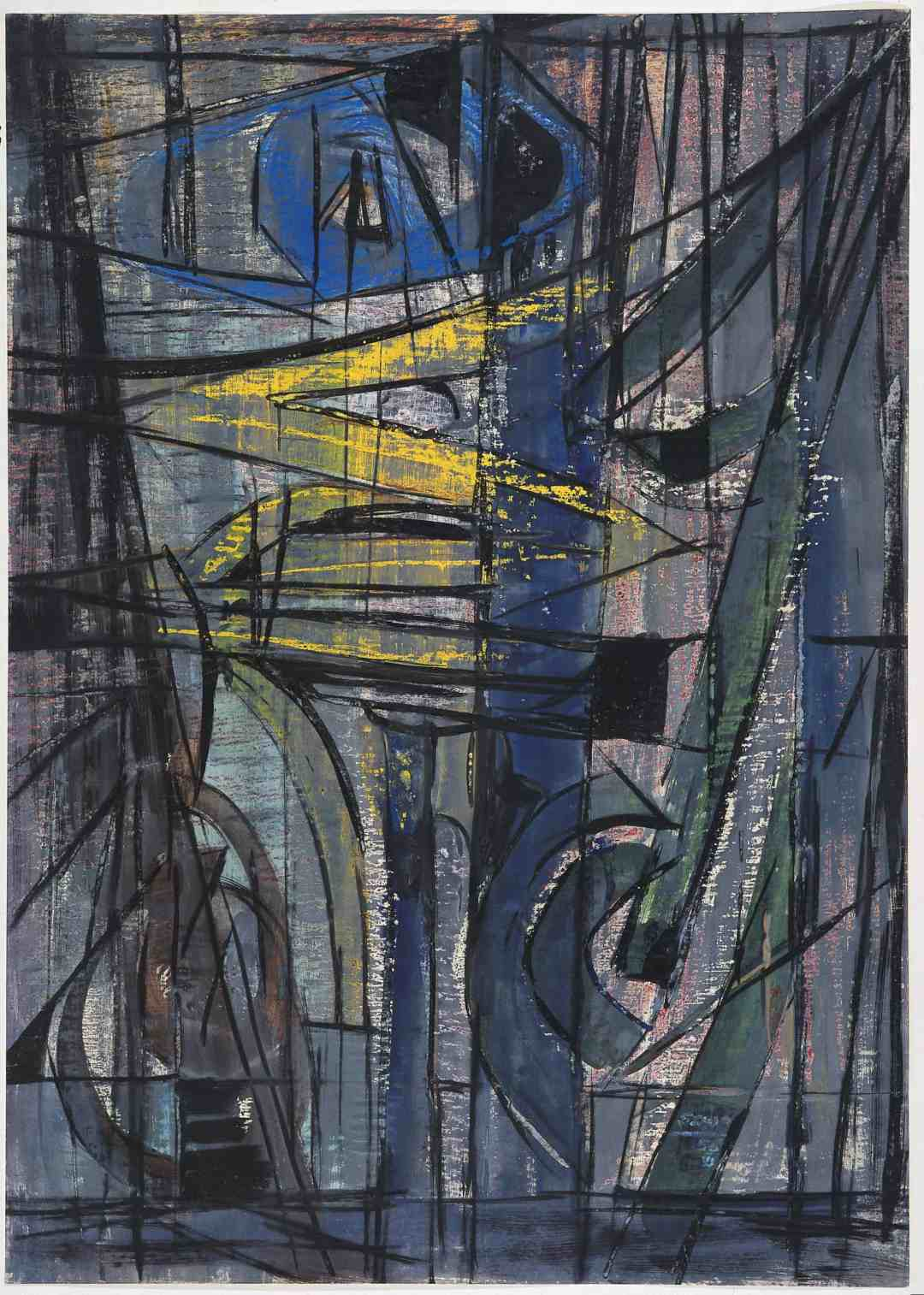 Bogusław Szwacz, Composition, 1956, ink, watercolour, tempera, pastel, paper, photograph by Zygmunt Gajewski (4)