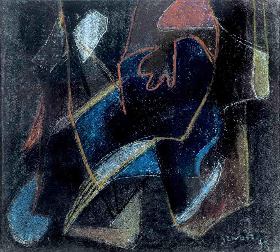 Bogusław Szwacz, Nocturne, 1948, pastel, paper, photograph by Zygmunt Gajewski (1)