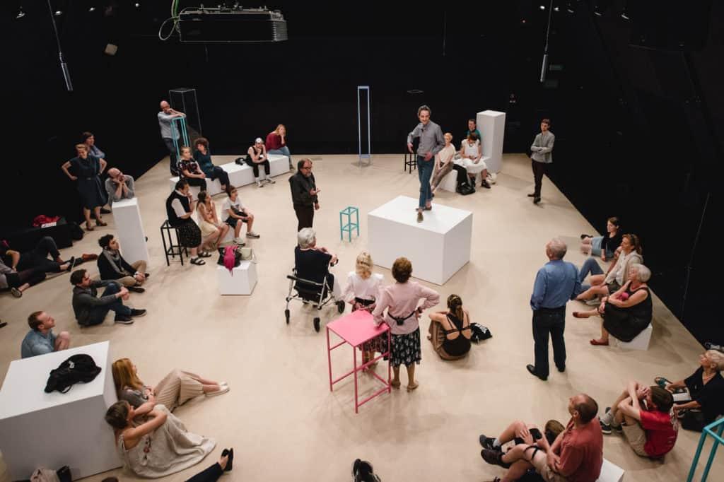 Maja Bekan, A series of Unexpected Incidents (2016), para-theatrical play: Photo: Bartosz Górka, courtesy of Ujazdowski Castle Centre for Contemporary Art and the artist