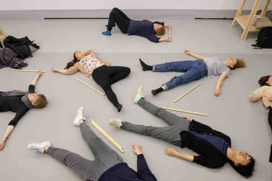 Maja Bekan, Essential Environment No.1 Performance Class (2017) view of the performance class at action: Maja Bekan, 23 Assemblies (2017). Photo: Bartosz Górka, courtesy of Ujazdowski Castle Centre for Contemporary Art