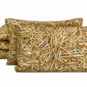 STRAW bed linen