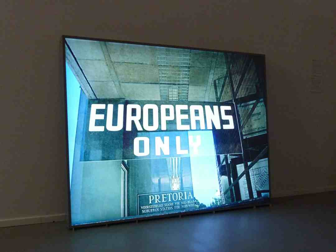 "Paweł Kowalewski, ""Europeans only"", work from the cycle ""Not allowed"", 2010, lightbox, 100 x 70 cm"