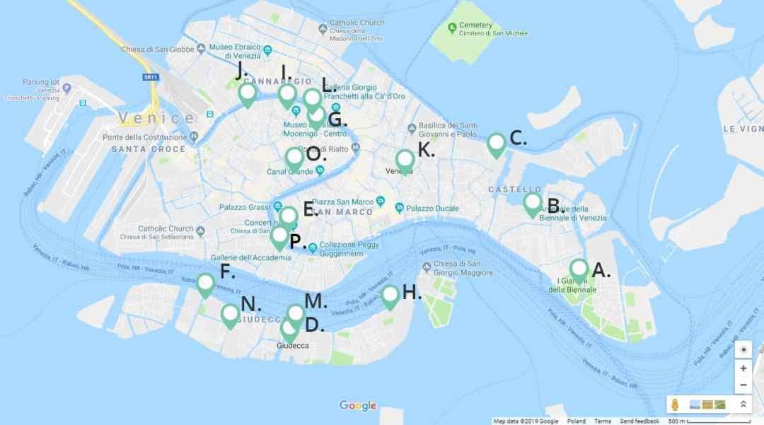 vennice biennale 2019 map