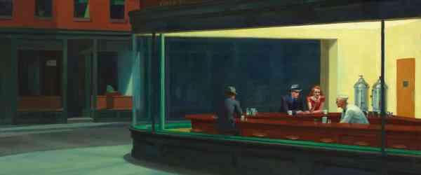 Edward Hopper, Nighthawks, 1942The Art Institute of Chicago