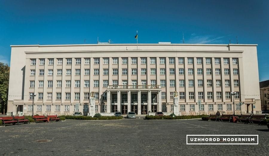 Użhorod, Building of Regional Government, fot. Użhorod Modernism