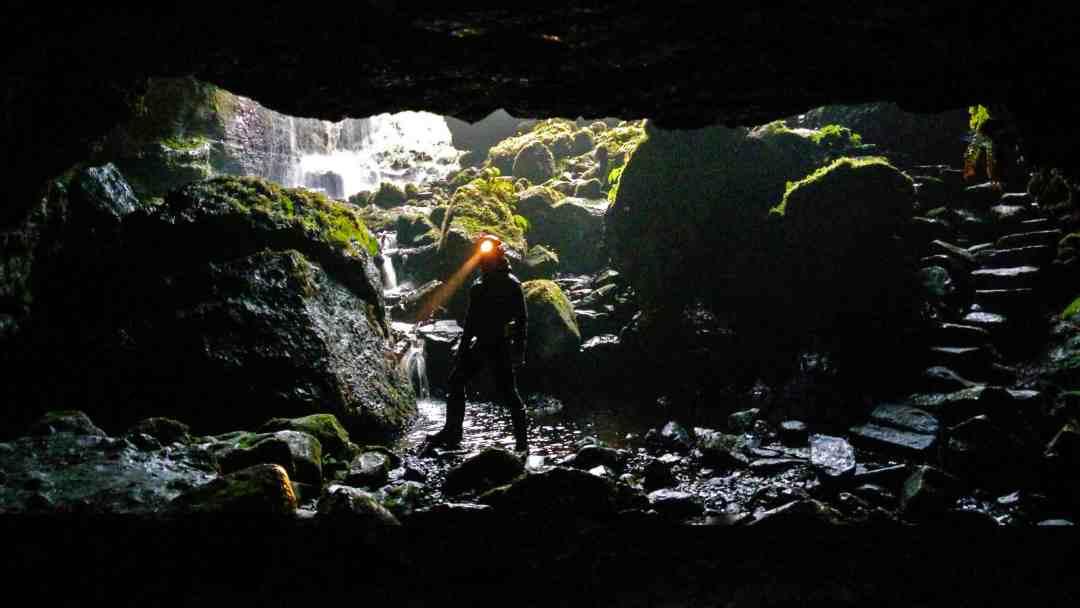 Alan James Burn cave hunting Fermanagh, courtesy: Alan James Burn