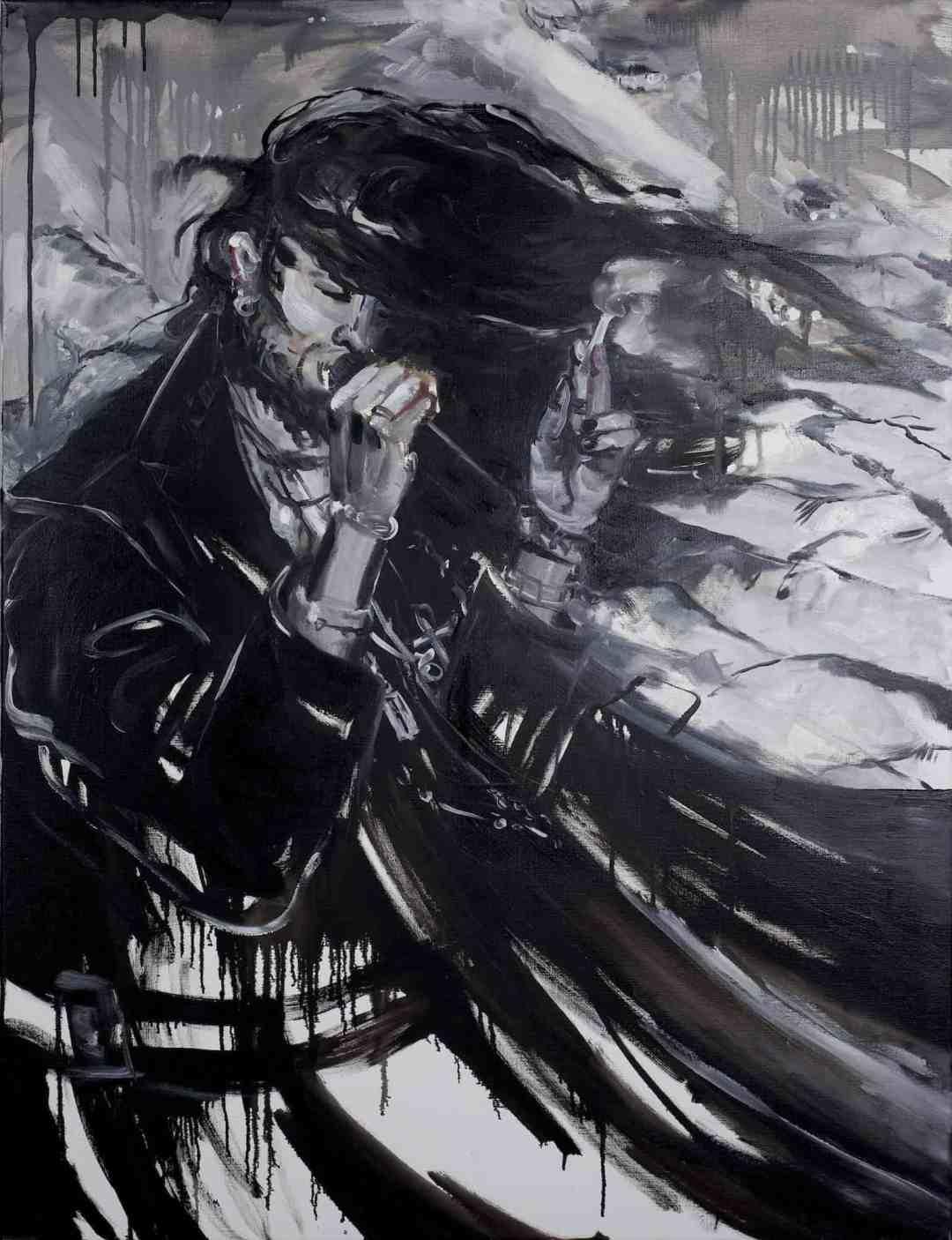 Pola Dwurnik, February, oil on canvas, 116x89cm