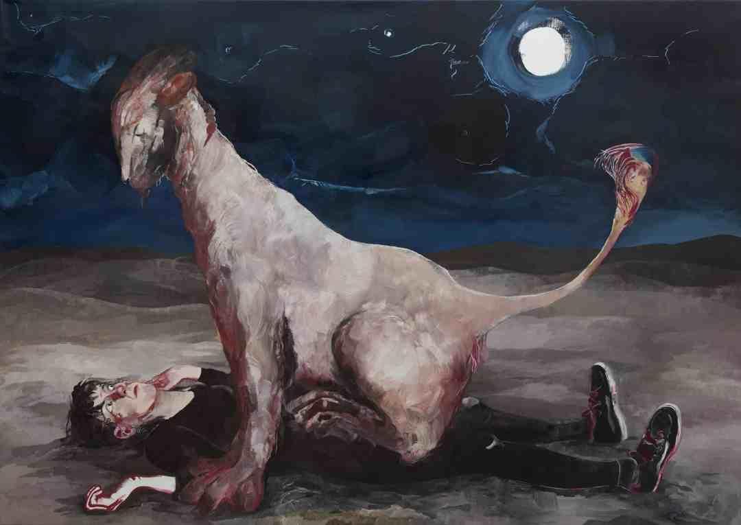 Pola Dwurnik, Suprise, oil on canvas, 150x210, 2016