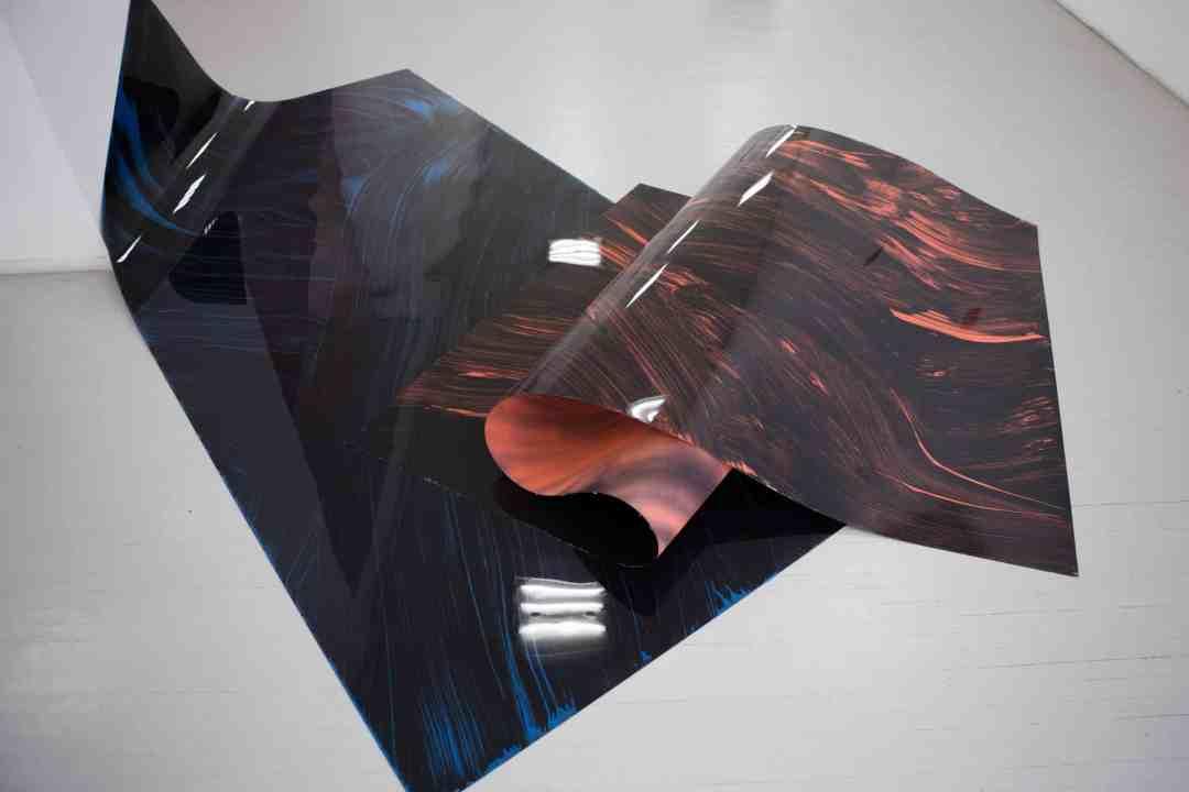 Flexible painting, 300x150 cm, each, acrylic and spray paint on pvc, 2017