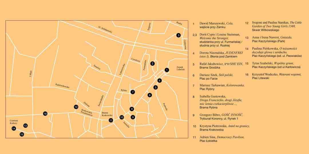 open city lublin mapa