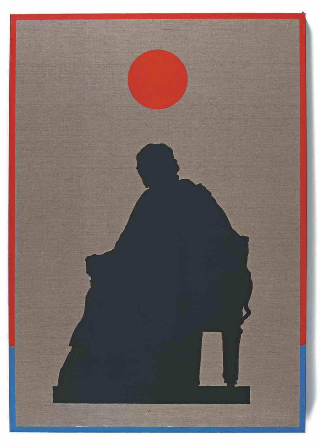 Andrzej Dłużniewski, Voltaire, 1999, acrylic paint on canvas, 170 x 120 cm