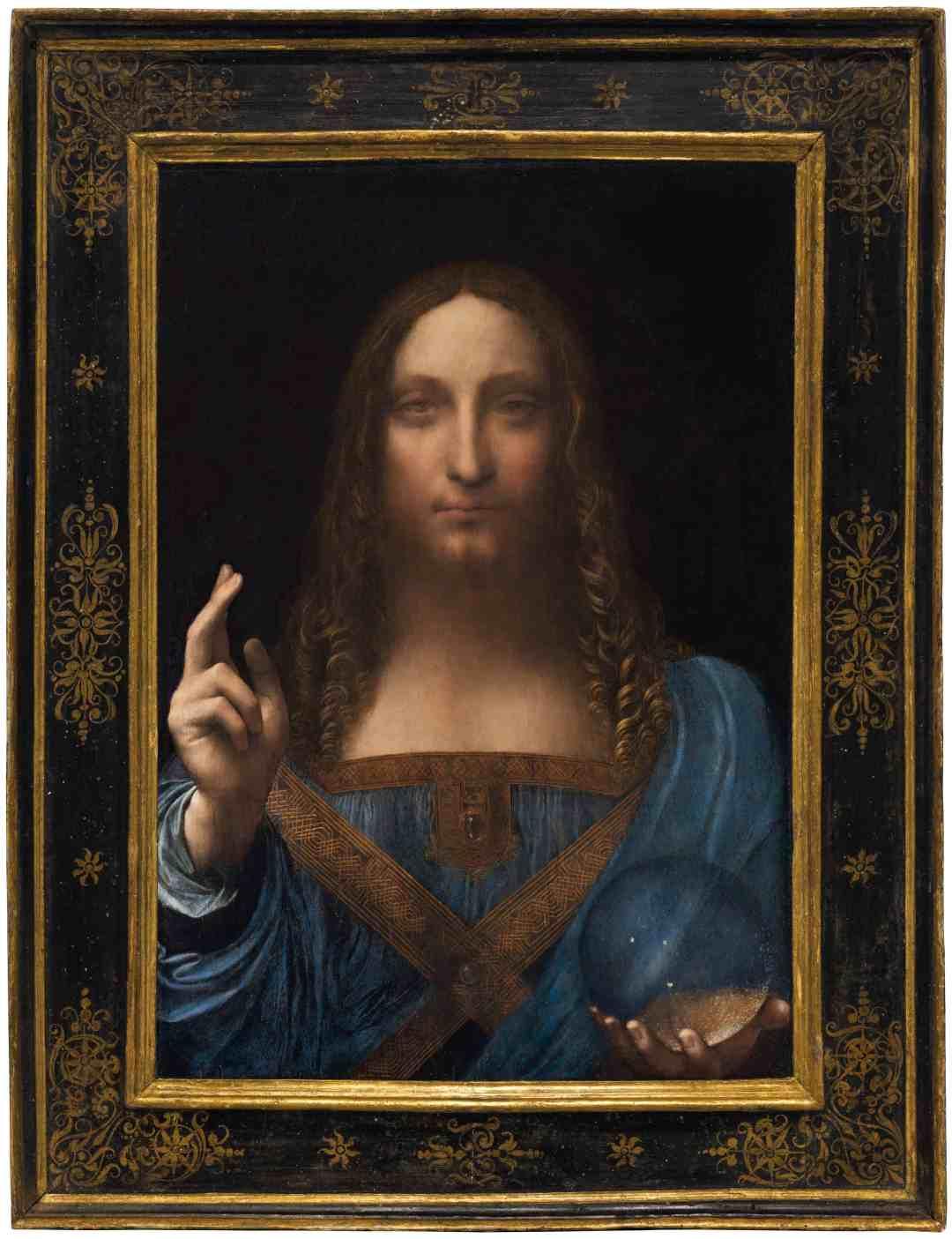 """Leonardo da Vinci """"Salvator Mundi"""", Oil on walnut, c.1500"""
