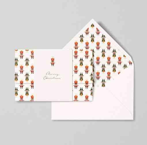 christmas card papear stationary nutcracker