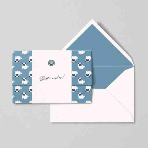 Birthday pug card papear team