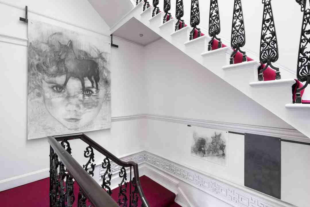 "Margarita Gluzberg, ""In Paradise"" exhibition, Pushkin House, London, courtesy of the artist. Photo: Thierry Bal"