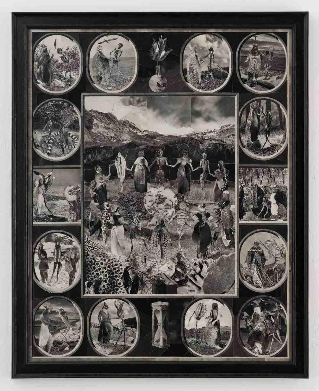 Wojciech Ireneusz Sobczak, Danse Macabre, 2018, collage, photo: B. Górka