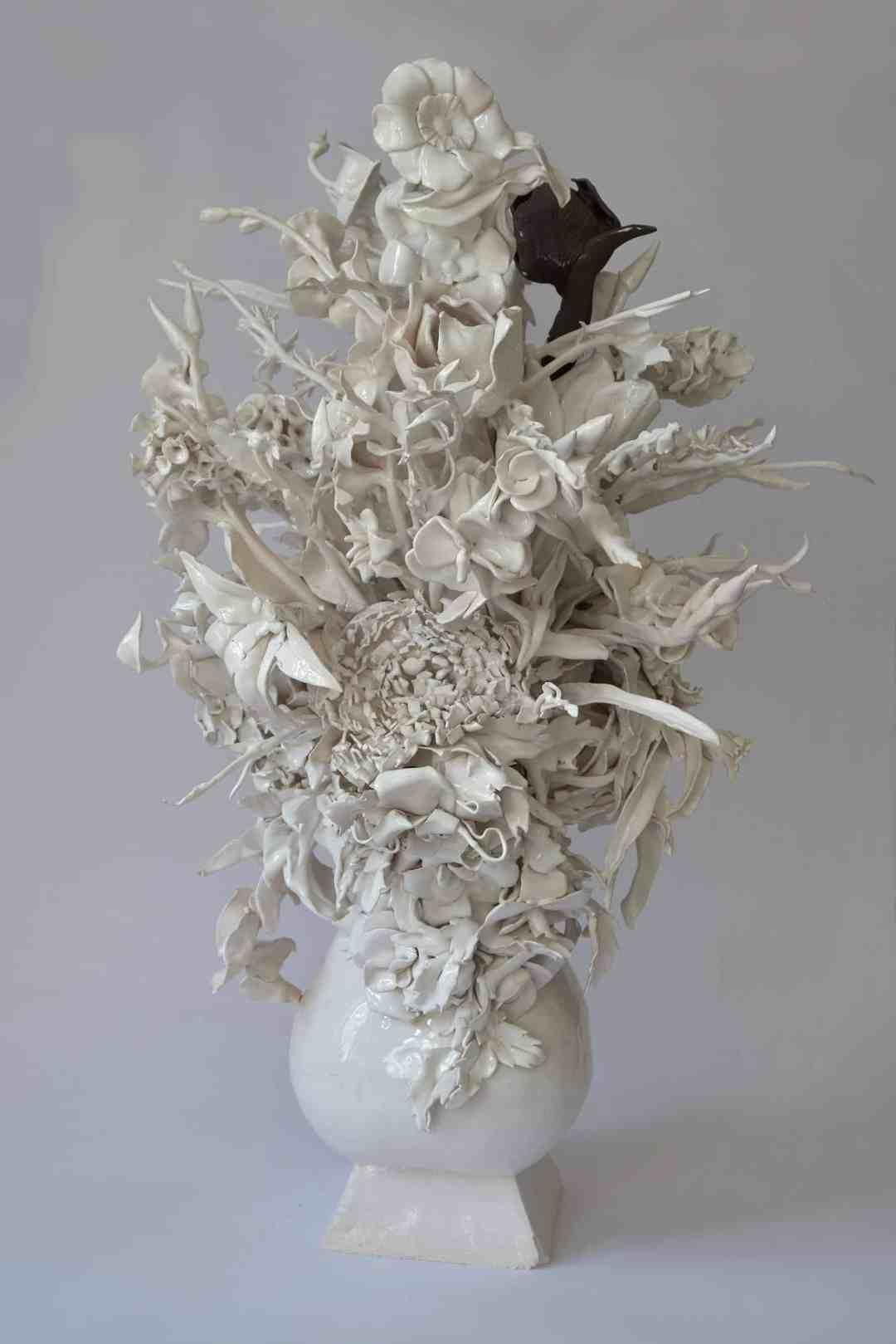 Wojciech Ireneusz Sobczak, Flowers from Lukrecja series, 2018, ceramics
