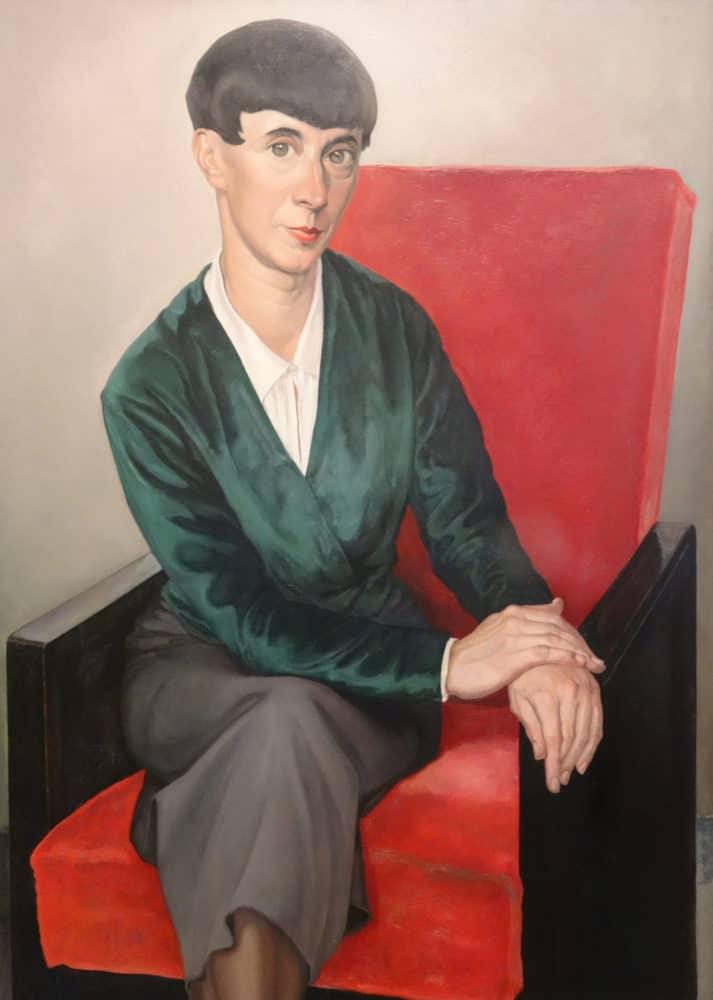 Chris Lebeau, Portrait of Hanna Höch, 1933, source: Drents Museum, Assen