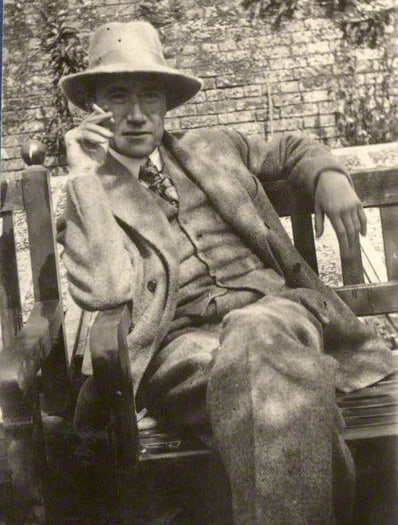 André Gide by Lady Ottoline Morrell, vintage snapshot print, August 1920