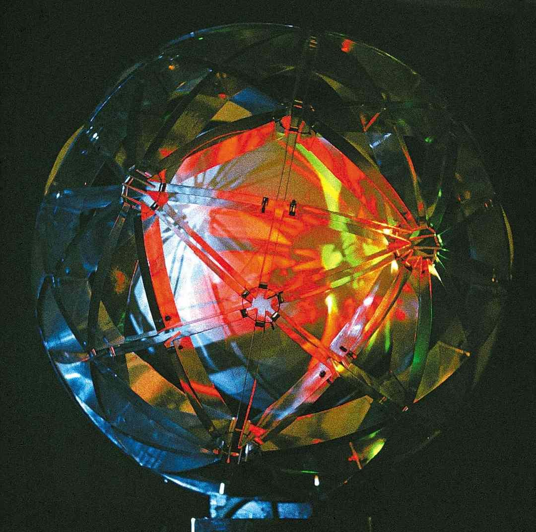 Valdis Celms. Kinetic maquette Positron, 1976, illuminated object. Collection of the Zimmerli Art Museum at Rutgers University, New Brunswick, New Jersey, USA