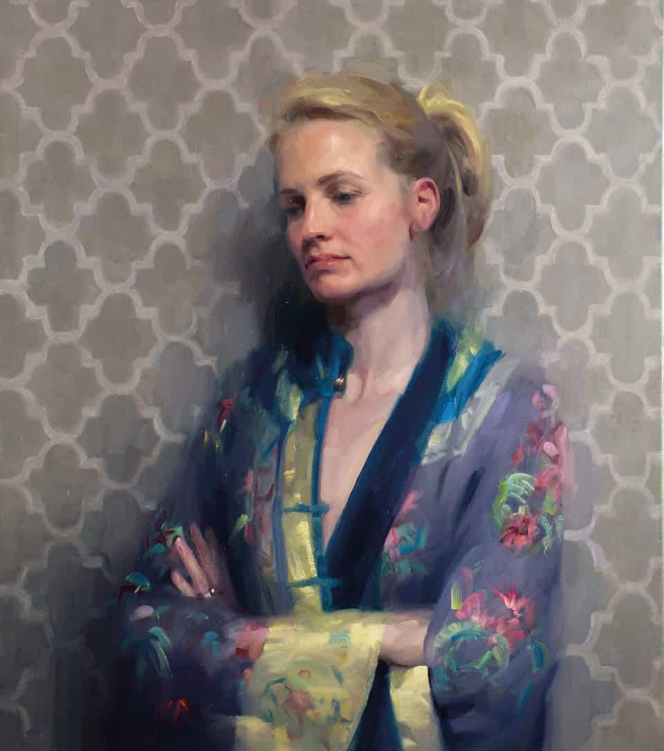 Frances Bell Paintings, Katie. Part of the Royal Society of Portrait Painters Annual Exhibition open 16 to 26 September