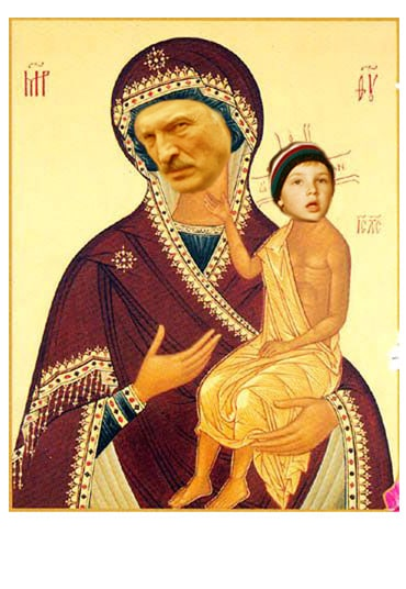 Ekaterina Samigulina (art-group Lipovy Tsvet) - Icon, Blessed Martyr Luke and His Son Nicholas