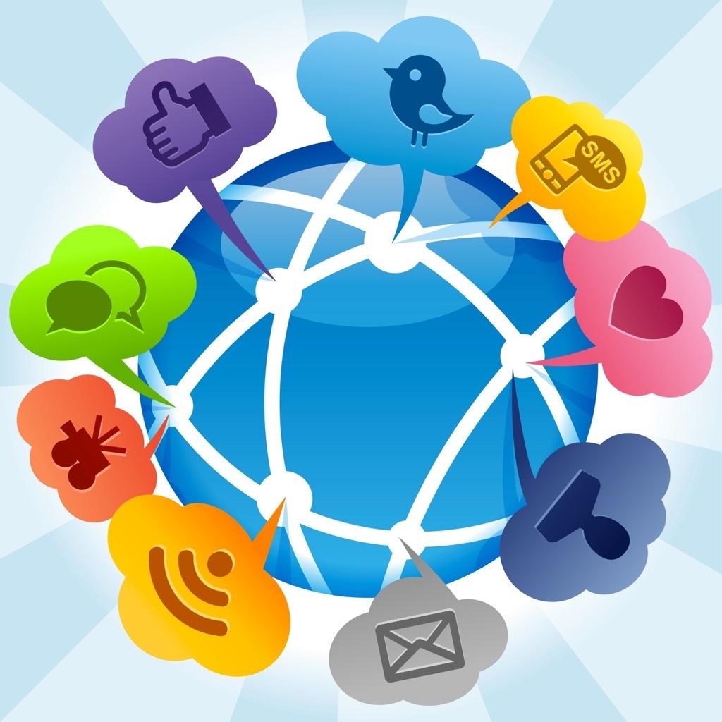social media customer service concept