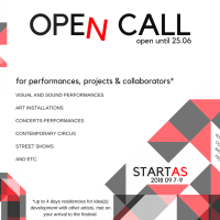Opportunities: OPEN CALL for Int. Contemporary Art Festivals STARTAS (Rokiskis, Lithuania) Deadline – 25 June 2018
