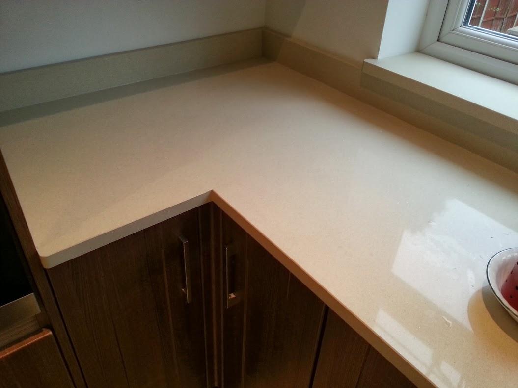 Ivory Shimmer Ceasarstone Quartz Worktop Birmingham