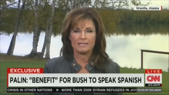 """Sarah Palin To Latino Americans: """"When You're Here, Let's Speak American"""""""