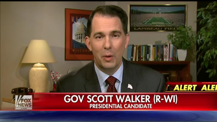 Scott Walker Tells Fox That He Was Just Joking About Building A Wall Along Canadian Border