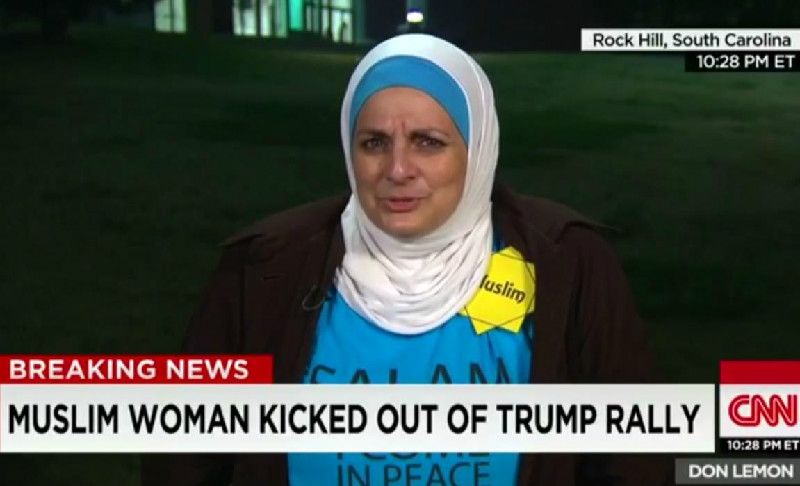 "Trump Supporters Yell ""You Have A Bomb"" At Muslim Woman During Campaign Rally"