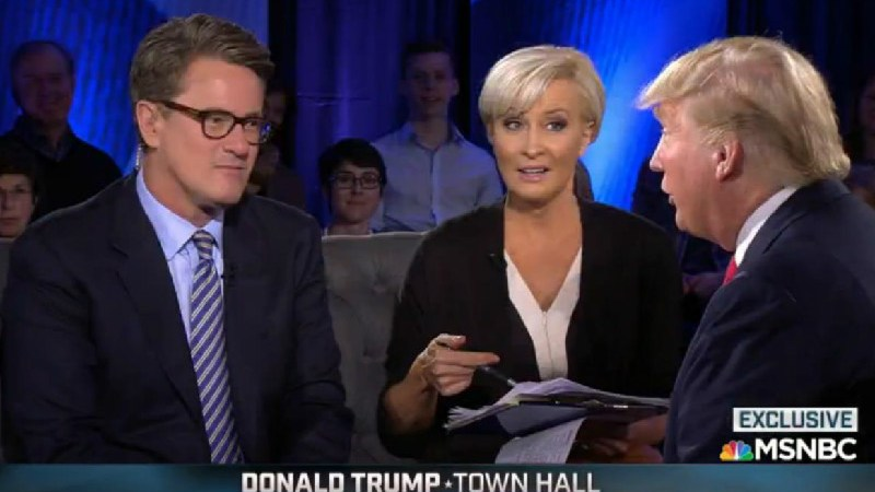 Leaked Tape Reveals 'Morning Joe' Hosts Kissing Donald Trump's Ass During Town Hall