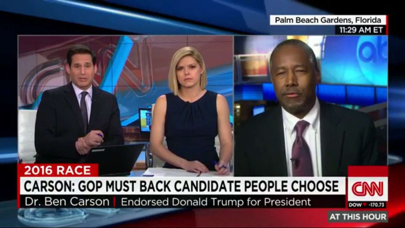 Defending Trump's Campaign Manager, Ben Carson Accuses CNN Host Of Committing Crimes
