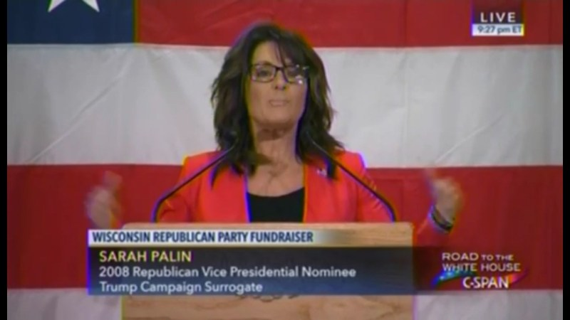 """Wait, What? Sarah Palin Says Politicians Are """"Seducing"""" Immigrants With """"Teddy Bears"""""""