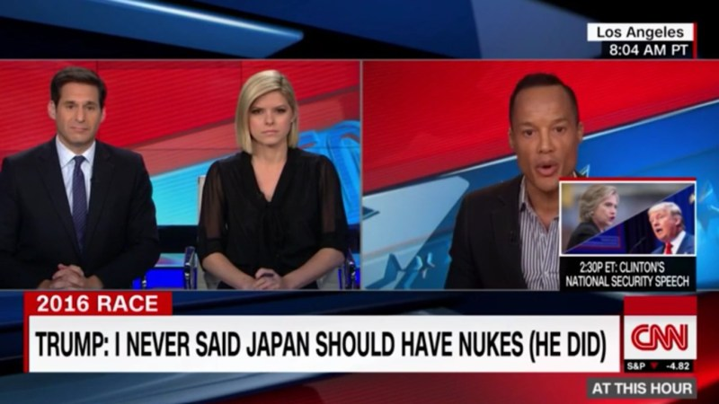 CNN Gets Under Trump's Skin By Using On-Screen Text To Fact-Check Him On Japan Nukes