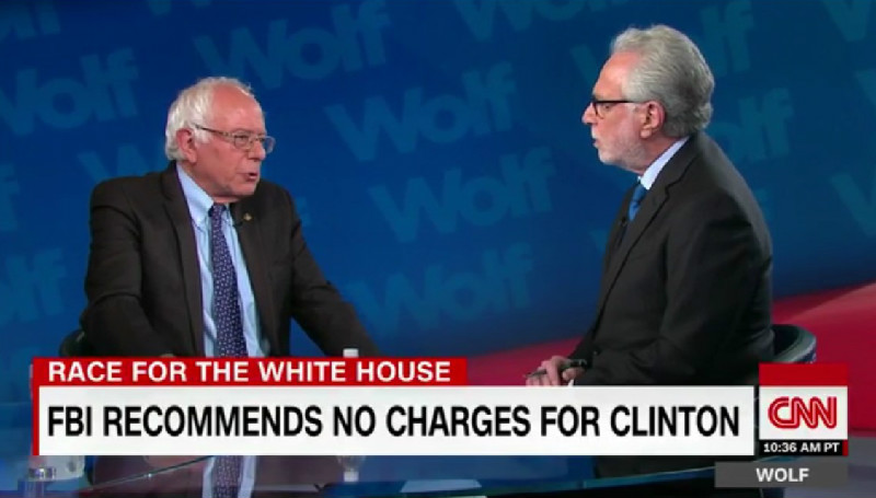 Bernie Sanders Can't Stop, Won't Stop Calling Wolf Blitzer 'Jake' During CNN Interview