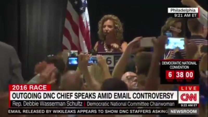 All Hell Breaks Loose As Debbie Wasserman Schultz Speaks To Florida Delegates At DNC
