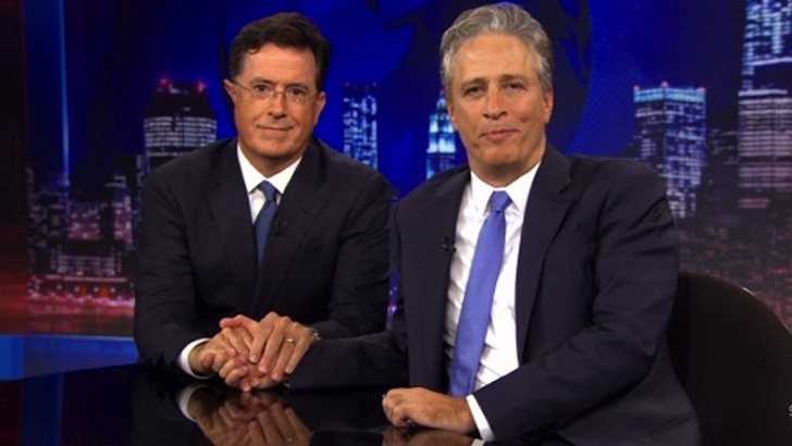 Watch: Jon Stewart Takes Over Colbert, Smacks Down Trump And Hannity