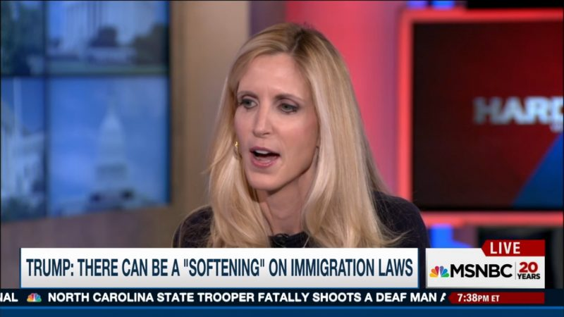 "Ann Coulter: ""This Could Be The Shortest Book Tour Ever"" If Trump Softens On Immigration"