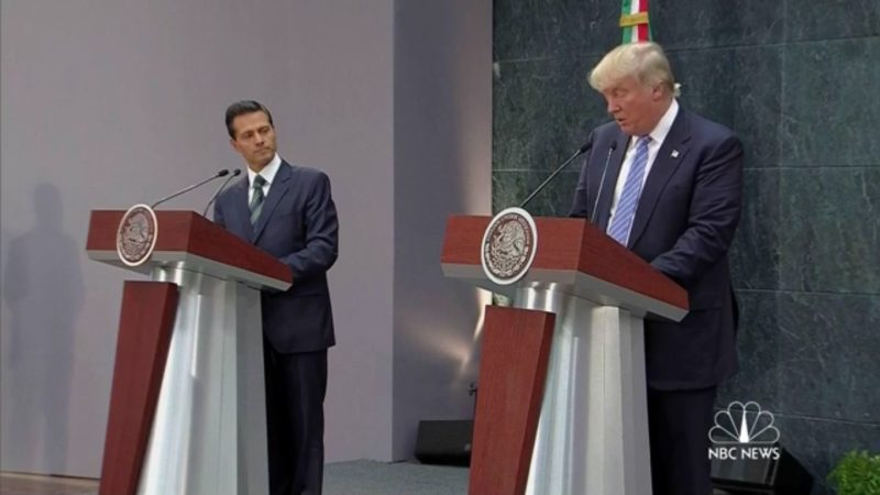 """""""We Didn't Discuss': Trump Chickens Out When Asked In Mexico Who Will Pay For Wall"""