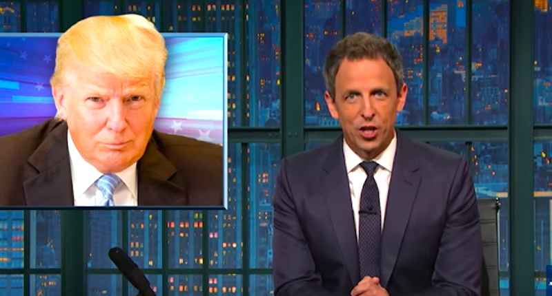 Seth Meyers Mocks 'Creepy' Trump For Not Mentioning Bill Clinton's Affairs: 'What A Hero'