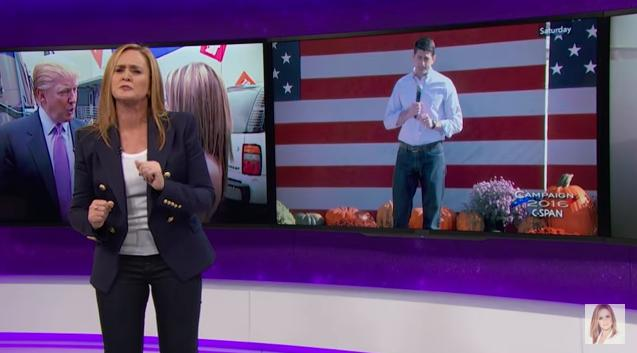 Sam Bee Mocks Paul Ryan: You're Such A Pussy, Trump Would Grab You