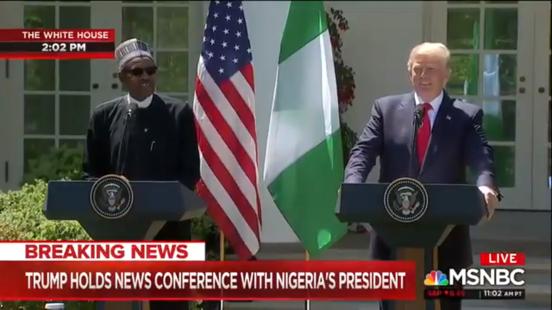Trump, Standing Next To Nigerian PM, Defends 'Sh*thole' Comments: Some Countries 'In Very Bad Shape'