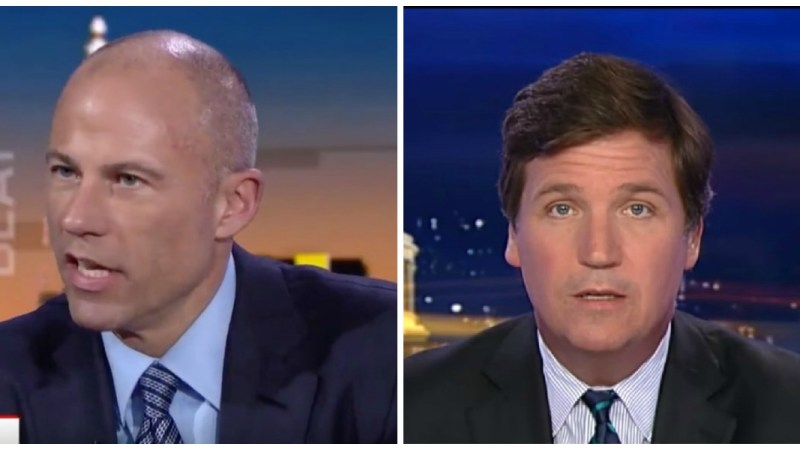 Avenatti Fires Back At Tucker Carlson: Your 'Best Bud' Dershowitz Is The 'Real Creepy Porn Lawyer'