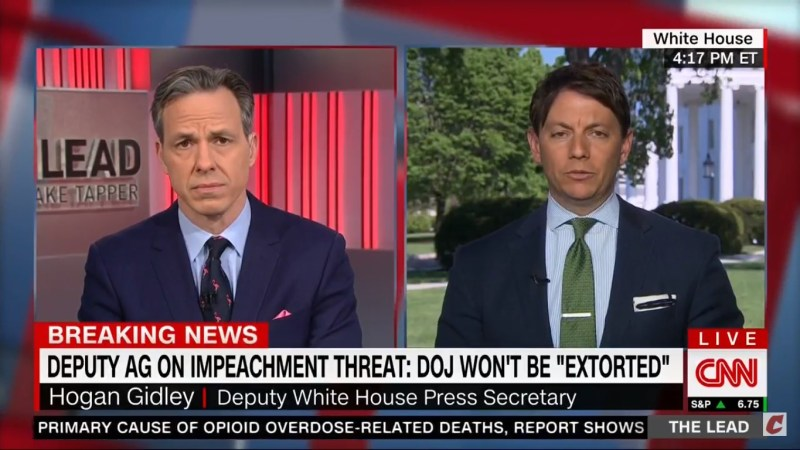 White House Spokesperson: Rosenstein's Extortion Comment 'Has Nothing To Do With Us'