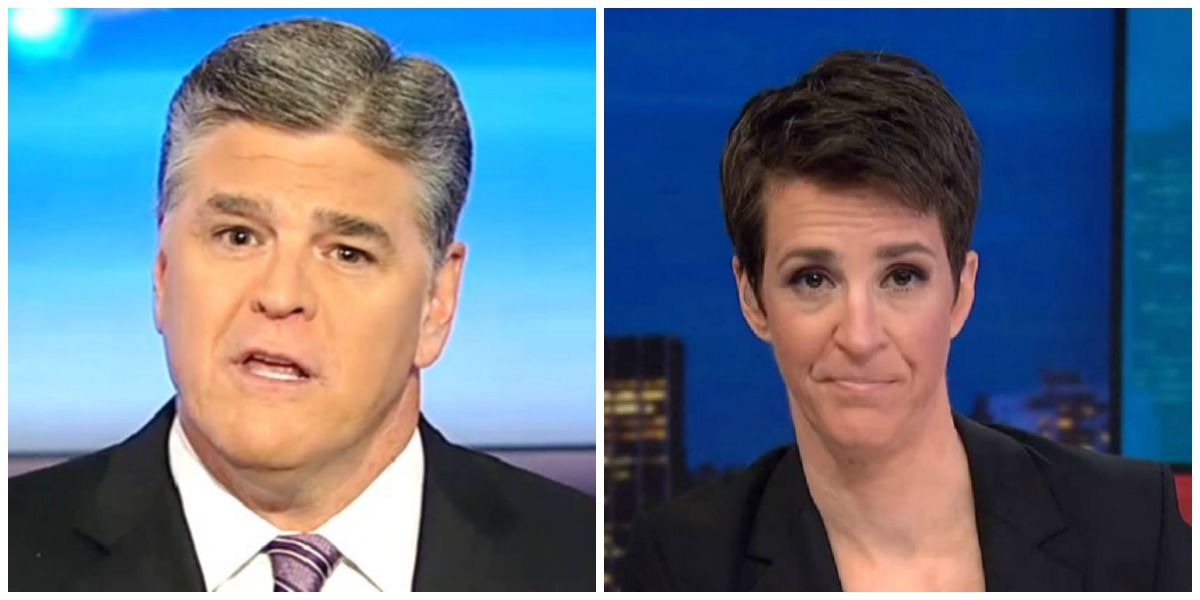 Hannity Takes Back Top Spot Thursday Night, Beats Maddow In Total Viewership
